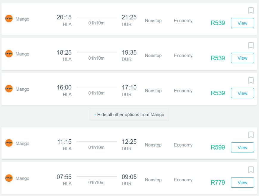 Book Cheap Flights From Johannesburg To Durban Flightfinder Co Za
